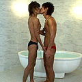 スジ筋同士が水泳部員がお風呂でイチャつき、その後
