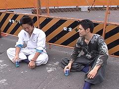 鳶装束が似合う筋肉質な男前の土方野郎!本能のまま絡み合う!!