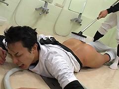 イケメン野球部員が先輩にしごかれ男を味わう!!