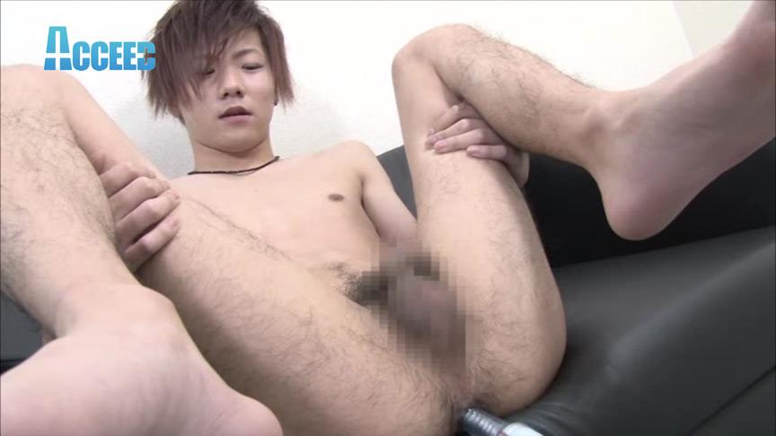 超美形!可愛いノンケのお尻いじり&シコシコ射精!