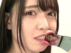 口腔:超オススメ女優 朝日しずくチャンのじっくり歯観察!
