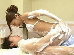 【大島優子】激似AV女優:非ヌキ系サロン 洗体エステで勃起しちゃった僕。3