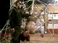 美熟女調教ドライブ 蜘蛛の巣拘束責め