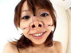 【エロ動画】よつん鼻 四人の豚面のエロ画像