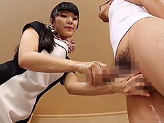 【エロ動画】凄指技の睾丸マッサージ×逆手オイル手コキのエロ画像