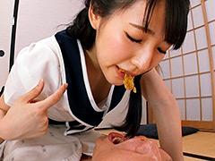 フェチ:咀嚼音を楽しんだ後、口移しで食べさせてもらった。