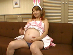 関西ロリ系 コスプレ妊婦!! 妊娠9ヶ月 樹里ちゃん