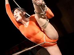 【エロ動画】縄玩弄レオタード2 上原優のSM凌辱エロ画像