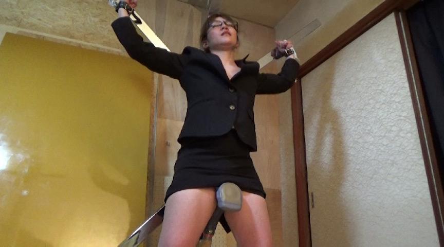リクルート女子電マ固定放置&くすぐり電マ同時責め性的拷問
