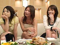 【エロ動画】ガチンコ人妻合コン H大好き元銀行員若妻3人組編の人妻・熟女エロ画像
