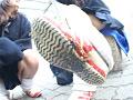 女子校生のくっさい上履き&上履きフードクラッシュ 13
