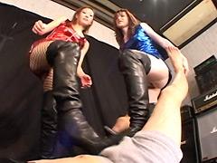 ハイパーボディコンお姉様の徹底いたぶりブーツ責め