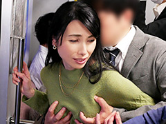 人妻痴漢電車〜さわられた五十路母〜 鶴川牧子