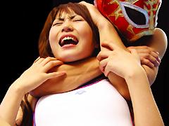 Rear naked choke 桜井真央,浅岡沙希,中原美姫,中河茅乃