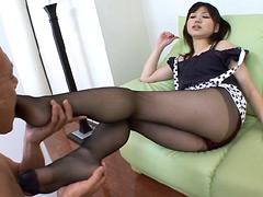 彼女の誘惑、魅惑のパンスト美脚フェチ
