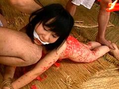 【エロ動画】女囚大江戸秘録 美白処女残酷刑 堀北真美のSM凌辱エロ画像