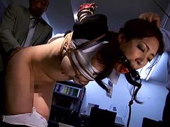 【エロ動画】悲嘆の肉弾女警護官 高身長美麗SPプライド崩壊のSM凌辱エロ画像