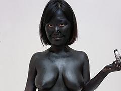 ウェット&メッシー:Black Painting014