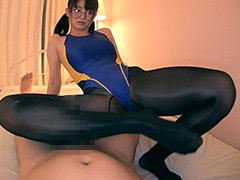 【エロ動画】美脚×競泳水着×パンスト眼鏡 妃月るいのエロ画像