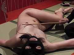 【エロ動画】鞭打ち虐待・乳首タッカーのエロ画像
