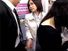【エロ動画】女性専用車両に乗り込んだらヤられた1のエロ画像