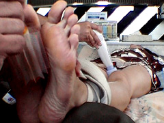 Undisclosed foot soles tickling shoot while jav An
