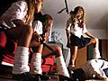 オヤジ狩り衝撃映像!黒ギャル女子校生達のリアル暴力行為。