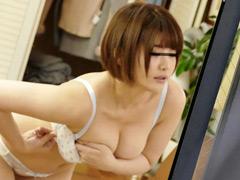 【エロ動画】窓から覗く巨乳美女の着替え姿に見とれていると…3のエロ画像