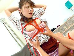【エロ動画】M願望を持った若妻が初めての縄拘束固定バイブ撮影!!のエロ画像