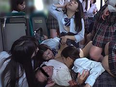 制服女子ぎゅうぎゅう痴漢バス
