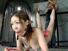 【エロ動画】最終人格破壊 癒し系肉感ボディ美女を地獄へのSM凌辱エロ画像