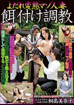 「よだれ変態マゾ人妻 餌付け調教 桐島美奈子」のパッケージ画像
