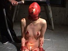 【エロ動画】奴隷蝋人形 野外浣腸・鞭打ち・フィストファックのエロ画像