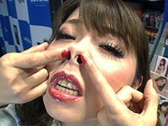 【エロ動画】極・セルフ鼻フックのエロ画像