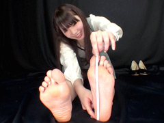 足裏:脚フェチ足裏・股下サイズ計測観察