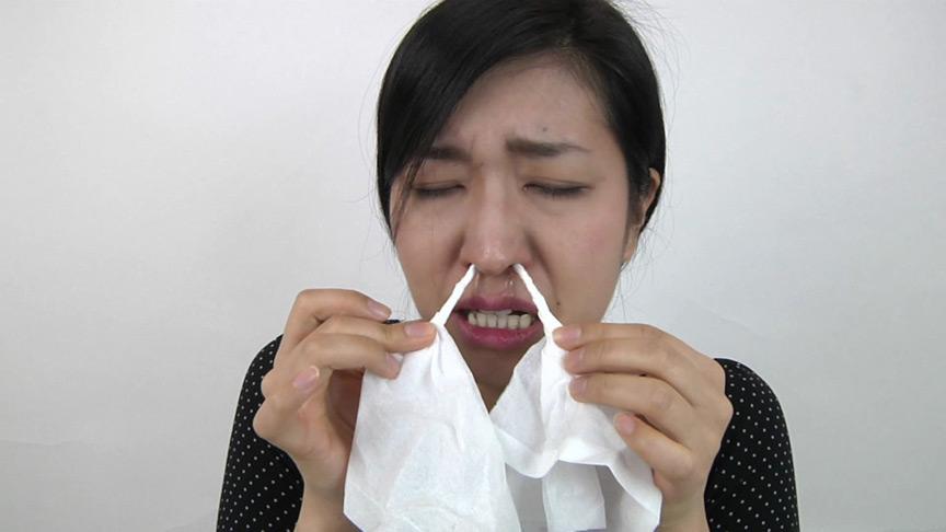 鼻・鼻水フェチ!由香里さんの鼻を観察