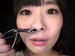フェチ:「HでMなみんなの妹」原美織ちゃんの鼻を観察しました。