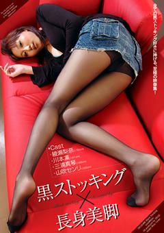 「黒ストッキング×長身美脚」のサンプル画像