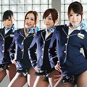 CA候補生によるアナル就航 東京発-地獄行き【フリーダム動画】