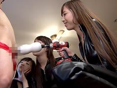 香山美桜:アマゾネス軍団に捕らわれた 男スパイ連続射精拷問