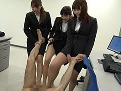 パンスト:就職活動中の女子大生が汗ばんだストッキングで脚責