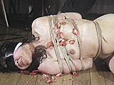 白布と黒い革による三重四重五重の凄惨猿轡