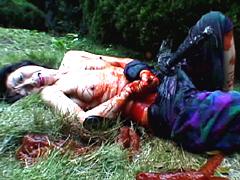 【エロ動画】女腹切り作品集6 魅惑の白刃のエロ画像