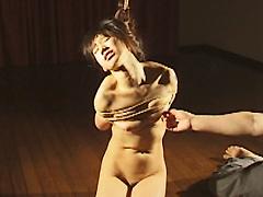 緊縛エロス03 全裸緊縛・乳首揉み揉みなぶり
