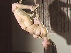 緊縛エロス01 股縄亀甲・彩色蛇女逆さ吊り変化