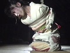 【エロ動画】艶麗和服縛り・縄妖花 春原悠理のエロ画像