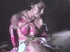 【エロ動画】女郎折檻部屋・緊縛蝋燭責め 梅田トキのエロ画像
