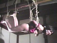 【エロ動画】彩が泣く股縄・尻肉乳房悶え縛りのSM凌辱エロ画像