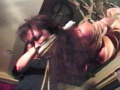【エロ動画】緊縛熟女・全身屈辱徹底縄なぶりのSM凌辱エロ画像