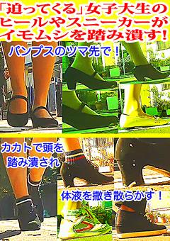 「女子大生のヒールやスニーカーがイモムシを踏み潰す!」のサンプル画像